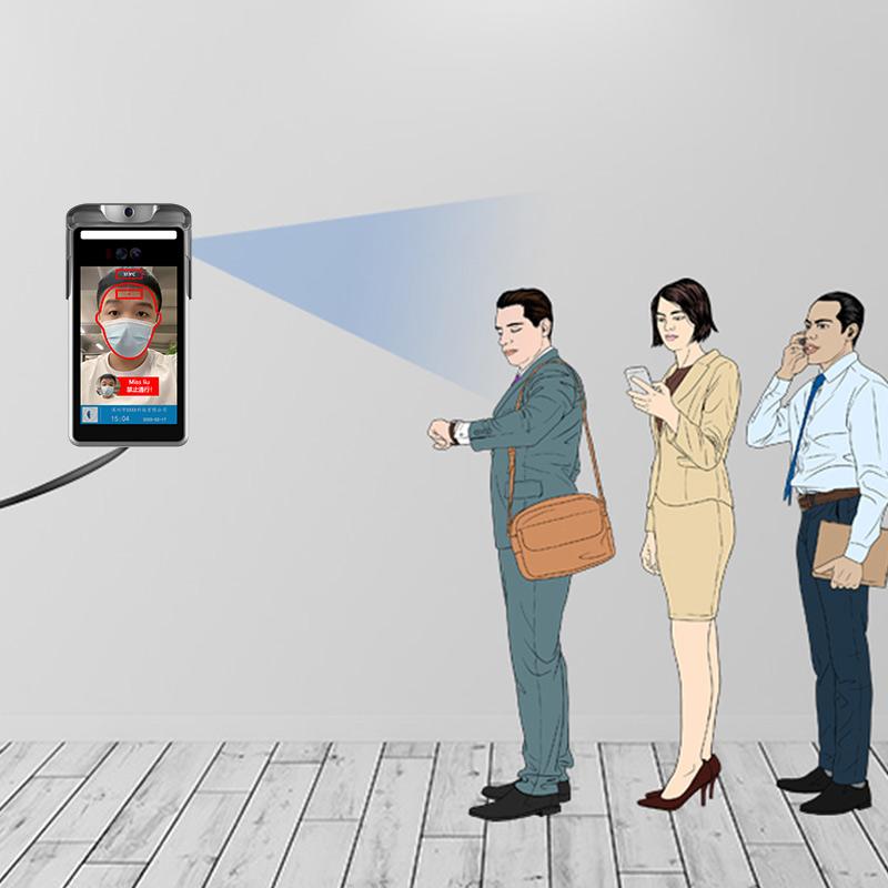 人脸识别测温仪多少钱,刷脸考勤门禁一体机价格_深圳捷易科技